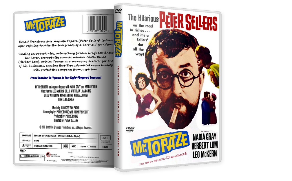 MR TOPAZE - Peter Sellers, Herbert Lom [1961] DVD