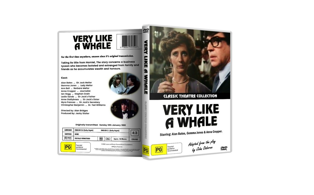 VERY LIKE A WHALE - Alan Bates, Gemma Jones (1980) DVD